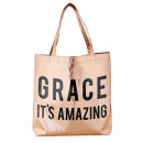 Grace It's Amazing Rose Gold Tote