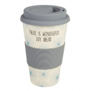 There Is Wonderful Joy Ahead Bamboo Travel Cup