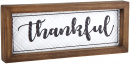 Framed Enameled Tin Wall Art: Thankful