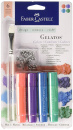 Faber-Castell 4 Color Metallic Gelatos Sticks (With Stamp & Brush)