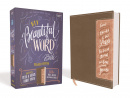 NIV Beautiful Word Bible, Updated Edition (with Peel/Stick Bible Tabs) Brown/Pink