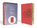 NIV, Premium Gift Bible, Youth Edition, Leathersoft, Coral, Red Letter Edition, Comfort Print: The Perfect Bible for Any Gift-Giving Occasion