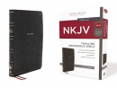 NKJV Thinline Reference Bible: Black Leathersoft (Red Letter Edition, Comfort Print)