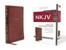 NKJV Thinline Reference Bible: Brown Leathersoft (Red Letter Edition, Comfort Print)