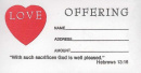 Love Offering Bill Envelope (100 Pack)