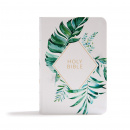 CSB On-the-Go Bible (White Floral Textured LeatherTouch)