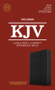 KJV Large Print Compact Reference Bible (Black LeatherTouch with Magnetic Flap)