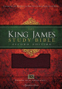 KJV Study Bible, Large Print, Thumb Indexed, Red Letter Edition: Second Edition (Burgundy)