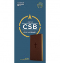 CSB Single-Column Pocket New Testament (Brown, LeatherTouch)