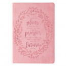 I Know the Plans Pink Slimline Faux Leather Journal