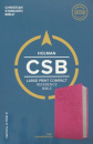 CSB Large Print Compact Reference Bible (Pink)