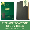 NLT Life Application Study Bible, Third Edition with Updated Notes and Features (Genuine Leather, Black)