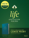 NLT Life Application Study Bible, Third Edition, Large Print (Teal Blue)