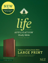 NLT Life Application Study Bible, Third Edition, Large Print (Brown/Mahogany)