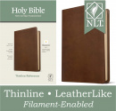 NLT Thinline Reference Bible, Filament Enabled Edition (Red Letter, LeatherLike, Rustic Brown)