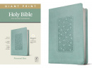 NLT Personal Size Giant Print Bible, Filament Enabled Edition (Floral Frame Teal)
