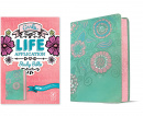 NLT Girls Life Application Study Bible (LeatherLike, Teal/Pink Flowers)