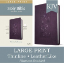 KJV Large Print Thinline Reference Bible, Filament Enabled Edition (Red Letter, LeatherLike, Purple)