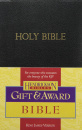 KJV Gift & Award Bible, Imitation Leather: Black
