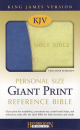 KJV Personal Size Giant Print Reference Bible (Blue & Green)