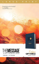 The Message Deluxe Gift Bible, Large Print: The Bible in Contemporary Language (Navy)
