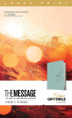 The Message Deluxe Gift Bible, Large Print: The Bible in Contemporary Language (Teal)