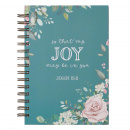 That My Joy May Be In You: Large Wirebound Journal in Teal