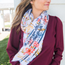 Redefining Strong Floral Scarf