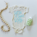 Chosen & Dearly Loved Onesie in Natural w Chill Blue (12M)