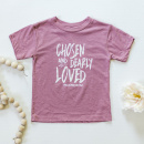 Chosen & Dearly Loved Toddler Tee in Mauve Triblend (5/6)