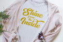 Shine From The Inside T-Shirt (X-Small)