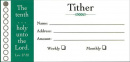 Tither Offering Envelope (100 Per Box)