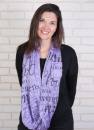 (Blue) Wrapped In Love Infinity Inspirational Scarf