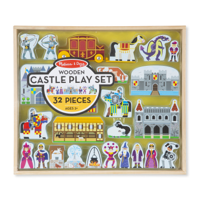 Wooden Castle and Kingdom (Block Playset)
