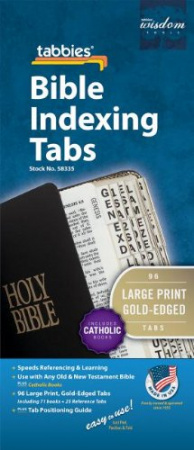 Tabbies Bible Index Tabs - Catholic, Large Print, Gold Edges