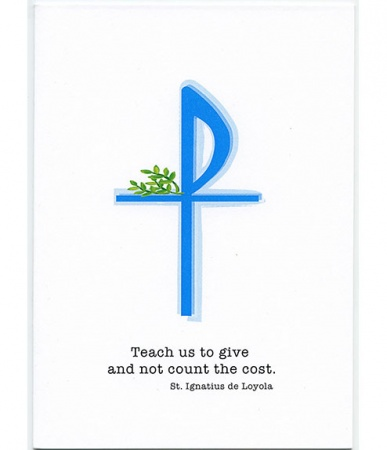 Teach Us To Give, St. Ignatius of Loyola, Deacon Ordination Card