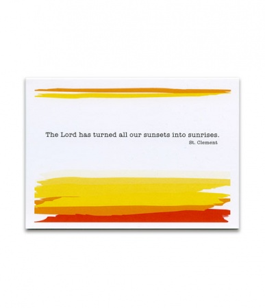 Sunsets and Sunrises, St. Clement, Encouragement Card