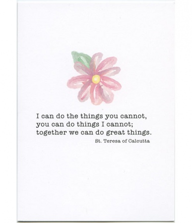 Together We Can Do Great Things, St. Teresa of Calcutta Friendship Card