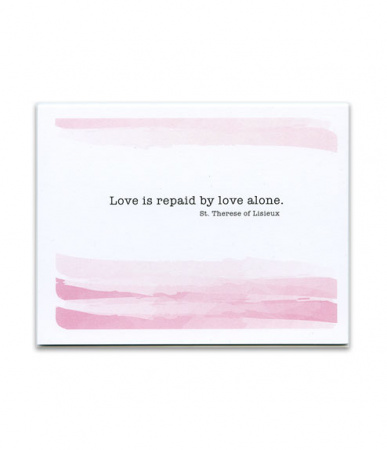 Love is Repaid, St. Therese of Lisieux, Watercolor Thank You Card Pack