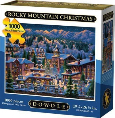 Puzzle: Rocky Mountain Christmas (1,000 Piece)