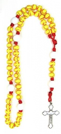 Softball Sports Bead Rosary