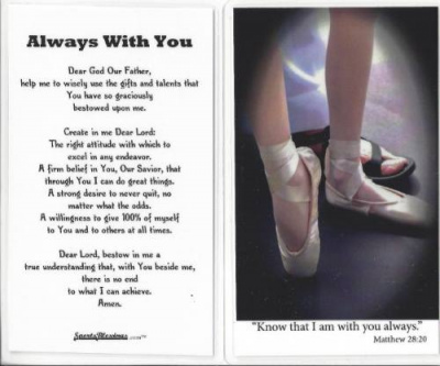 Ballet / Dance Prayer Card
