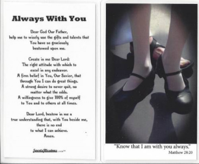 Tap Dance Prayer Card