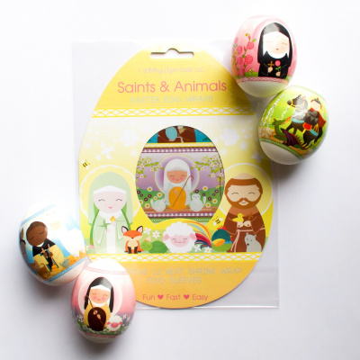 Saints & Animals Easter Egg Wraps