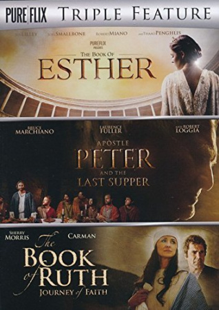 Pure Flix Triple Feature: Esther, Apostle Peter and the Last Supper, and The Book of Ruth (3 DVD Set)
