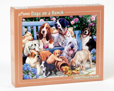Puzzle: Dogs on a Bench (1,000 PC)