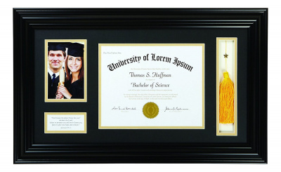 Graduation Photo Frame Keepsake (Black) Jeremiah 29:11