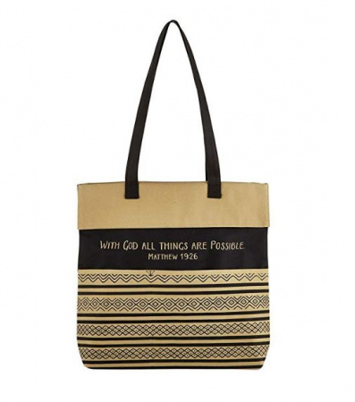 Canvas Tote: With God All Things Are Possible