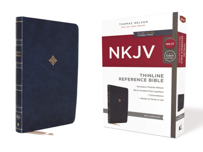 NKJV Thinline Reference Bible (Leathersoft, Blue, Red Letter Edition, Comfort Print)