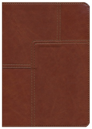 NLT Life Application Study Bible, soft imitation leather, midtown brown